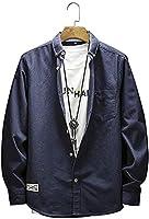 シャツ メンズ 長袖 カジュアルシャツ オックスフォード 無地 ベーシック カラー シャツジャケット ゆったり おしゃれ 柔らか 快適 速乾 吸汗 通気性 ポケット付き 折りえり 前開き 大きいサイズ 春秋