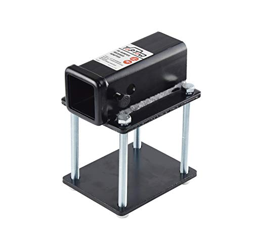 TOPTOW RV Bumper 2 inch Hitch Receiver Adapter 63801 for 4 inch X 4 inch and 4.5 inch X 4.5 inch Bumpers, Fits for Bike Racks, Cargo Carriers Camper-on