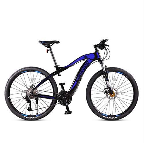 Adulti 27.5 Pollici Mountain Bike, Full Suspension aggiornamento in Lega di Alluminio da Neve Biciclette, Doppio Freno a Disco City Road Biciclette, 27 velocità,Blu