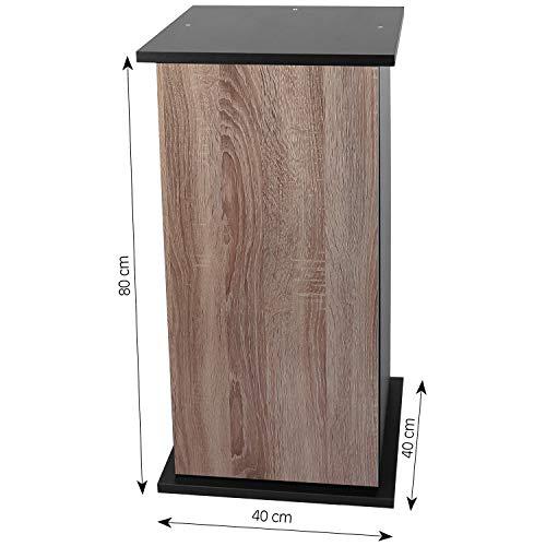 sera 32395 Unterschrank 80 cm mit Tür Walnut für Scaper Cube Aquarium