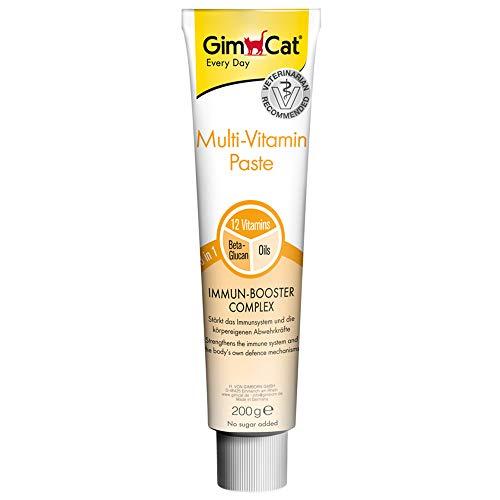 GimCat Multi-Vitamin, pasta multivitaminas - Saludable snack para gatos que activa las...