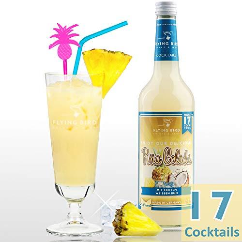 Cocktail Pina Colada | Premix 28% Vol. für 17 fertige Cocktails mit Alkohol | Flasche 0,7l mit allen Zutaten | Einfach mit Ananassaft mixen