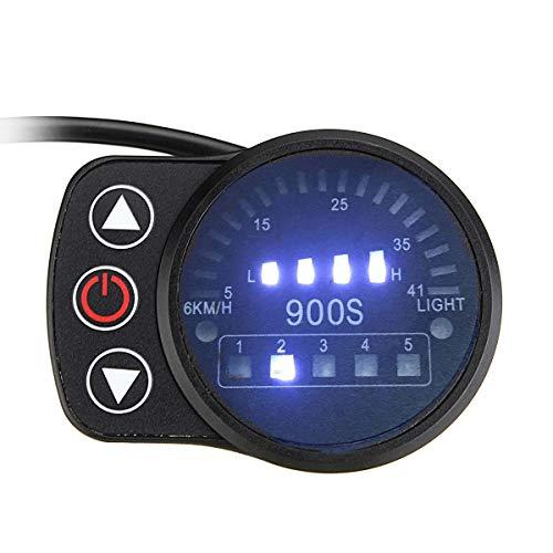 Viviance 24V 36V 48V 5Pin Led Display Speed Meter Control Panel Für E-Bike Elektro-Scooter Led900S