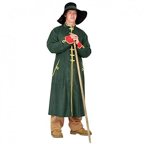 Kostüm Nachtwächter Gr. L Mantel grün Hose Hut Schäfer Hirte Karneval
