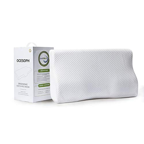 Contour Memory Foam Pillow for Sleeping, Cervical Pillow for Neck and Shoulder Pain, Orthopedic Sleeping Pillows for Side, Back and Stomach Sleepers