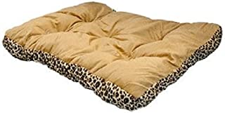 Pet Bed 28 Square Leopard Print Reversible Dog Cat Mat Cushion Kennel Pad Crate House Cage Puppy Kitten Warm Nest by RockaPony
