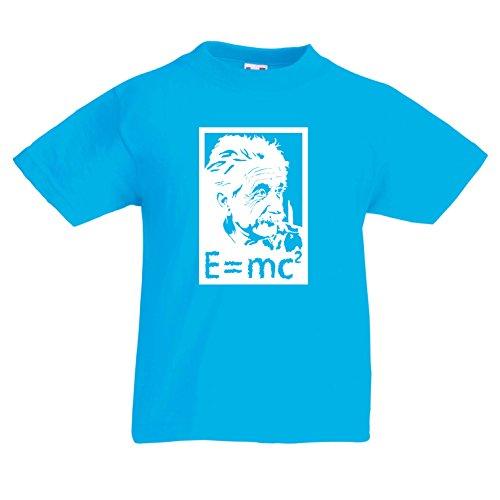 lepni.me Camiseta para Niño/Niña Los científicos de física Albert Einstein, Amante de la Ciencia Regalo (12-13 Years Azul Claro Blanco)