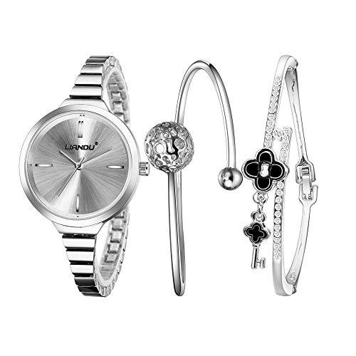 YIBOKANG 3 Morceaux De Dames Casual Simple Strip Scarred Scales Scarred Scarred Watch Foret Bracelet Foret Set Set Tendance Beau Cadeau Bracelet Bracelet Set De Table (Color : 2)