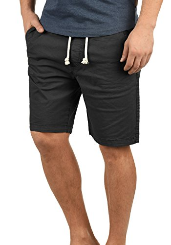 Indicode Abbey Herren Chino Shorts Bermuda Kurze Hose Aus Stretch-Material Regular Fit, Größe:XL, Farbe:Black (999)