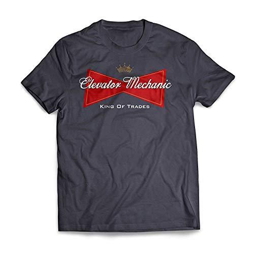 T-Shirt Multicolore Stampata da Uomo per Meccanico Sportivo King of Trades Mechanic