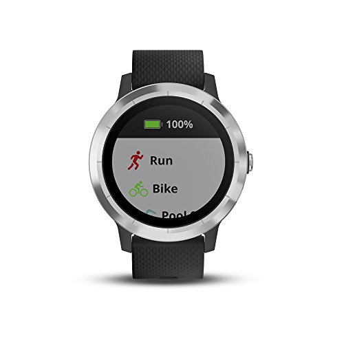 Garmin Vivoactive 3, GPS Smartwatch with Contactless Payments and Built-In Sports Apps, Black with Silver Hardware