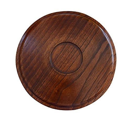 AWJ Bandeja de té grande de olmo con forma de té, bandeja de café y plato de madera maciza