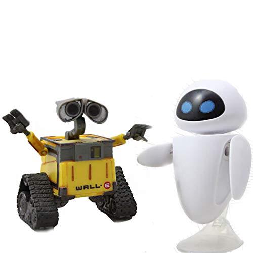 Generies 2pcs Wall · E Walle Eva Robot Figura Juguete Modelo
