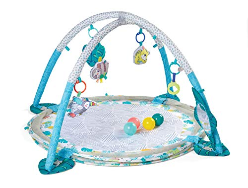 Infantino Jumbo Activity Gym & Ball Pit Transformable 3-in-1 Playmat, Sensory-Stimulating, for Infants and Toddlers with 20 Balls for Ultimate Fun, Multicoloured