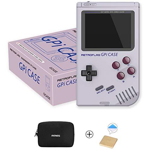 Raspberry Pi Zero and Zero W Case, Retroflag GPi CASE with Retro Handheld Game Console and Safe Shutdown - with Heatsink