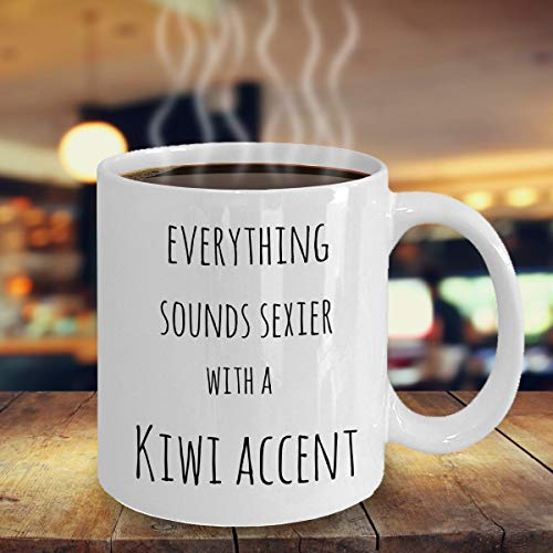 Lustige Kiwi-Geschenktasse mit süßem Kiwi-Akzent, Geschenk, sexy Kiwi-Akzent-Geschenk, cooles Kiwi-Akzent-Geschenk, Kiwi-Wurzeln, Heritage aus Neuseeland, 325 ml