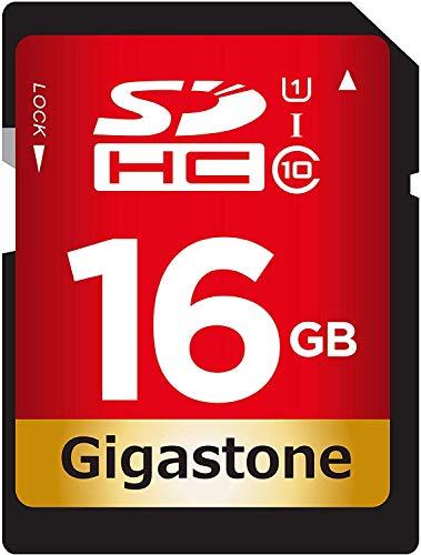 Gigastone 16 GB SDHC Speicherkarte UHS-I U1 Klasse 10, bis zu 80 MB/Sek. für Digitalkameras Canon Sony Nikon Olympus PC