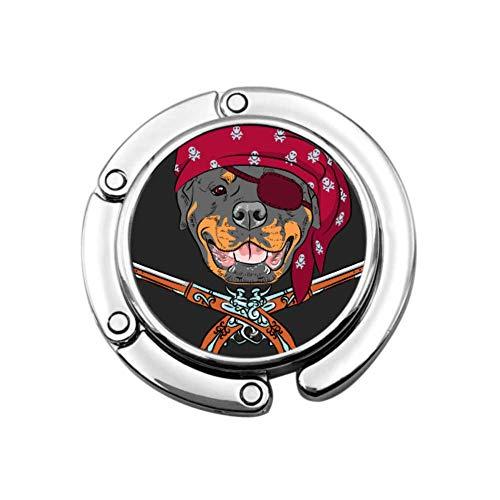 Pistole pirata di vettore cane Rottweiler indossando appendiabiti per ragazza portamonete elegante portamonete disegni unici sezione pieghevole appendiabiti portamonete decorativo