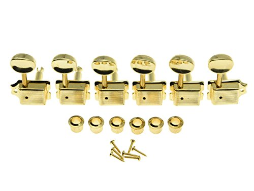 Dopro Gold Split Shaft Vintage Guitar Tuning Keys Pegs Guitar Tuners Machine Heads for Strat Tele