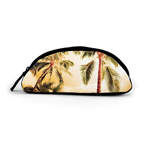 Lacenoon - Estuche para lápices con cremallera para palmeras, bolsa de cosméticos