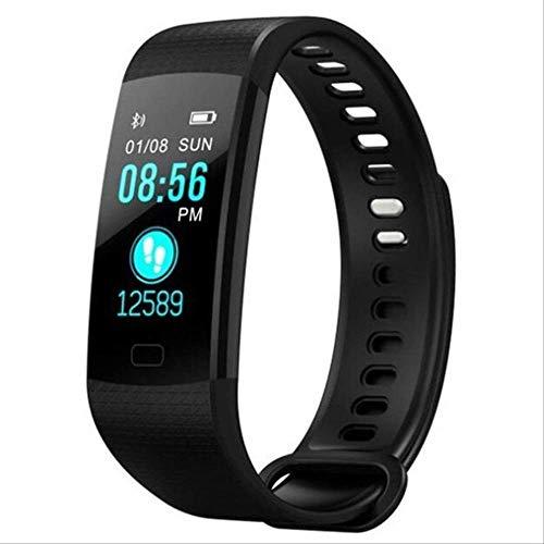 Reloj Inteligente Deportes Fitness Actividad Rastreador De Frecuencia Cardíaca Pulsera De Presión Arterial Ip67 Banda Impermeable Podómetro para iOS Android Negro
