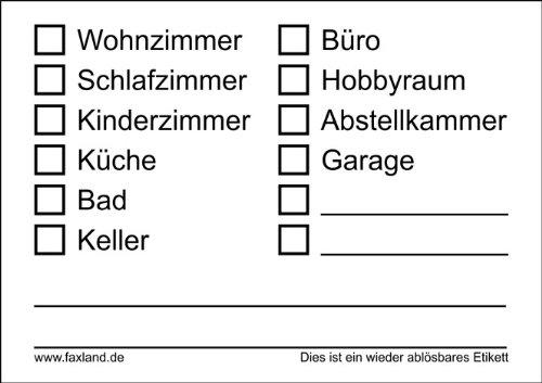 40x Umzugetiketten - Ablösbar - Weiss, Beschriftung mit Etiketten vom Umzugskarton für den Überblick beim Umzug, 40 Stück thumbnail