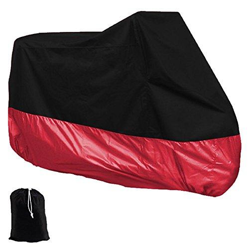 Leegoal(TM) Motorcycle Motorbike Waterproof Dustproof UV Protective Cover(Black&Red,XL)