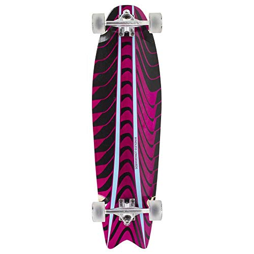 Mindless Longboards Rogue Swallow Tail Longboard Skateboard Unisex Adult, Unisex, ML1160, Rosa (Pink), 9.7