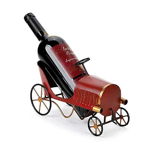 WANGXINQUAN Estante de vino de hierro forjado retro americano país americano estante de vino estante de salón adornos 24 cm x 10 cm x 12 cm