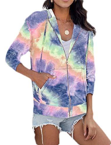 H&E Damen-Sweatshirt, Übergröße, mit Kapuze, Reißverschluss, Sport-Sweatshirt, Jacke, Mantel Gr. XX-Large, violett