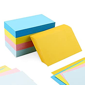 YEXPRESS 400 Pack Blank Index Cards Heavy Weight Neon Color Note Cards for School Home and Office 3 x 5 Inch