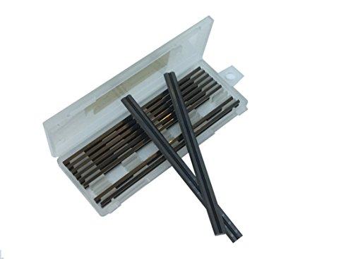 Box von 10–82mm Hartmetall-Hobelmesser reversibel für Makita, Black & Decker, Bosch, DeWalt und Elu Hobelmaschine