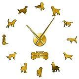 掛け時計 おしゃれ 壁掛け時計 置き時計 アイリッシュセッターDIY巨大壁時計犬の品種フレームレス壁アート時計レッドセッター装飾大きな壁時計ペット店の装飾 置き掛け兼用 耐久性丈夫 無騒音静音 防塵 インテリア 部屋装飾 プレゼント は部屋、教室、ベッドルーム、バスルーム、リビング、オフィスに最適です