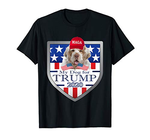 My Dog For Trump 2020 Clumber Spaniel T-Shirt