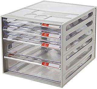 KANJJ-YU Tiroir de bureau Sorter 4 couches, A4 type tiroir tiroir Sorter armoire de données Bureau transparent document de...
