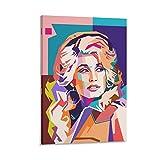 wuqian Dolly Parton Poster, dekoratives Gemälde, Leinwand,