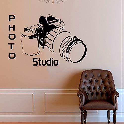 Estudio fotográfico Cámara Calcomanías de pared Vinilo Decoración del hogar Etiqueta de arte Poner en la pared Película autoadhesiva extraíble Mural Ventana 84 * 126 cm
