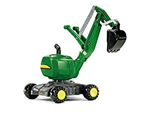 rolly toys John Deere Ride-On: 360-Degree Excavator Shovel/Digger, Youth Ages 3+