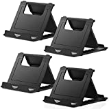 STRIFF Cell Phone Stand, 4 Pack Universal Foldable Tablet Stand Multi-Angle Pocket Desktop Holder Cradle Compatible iPhone X, 8, 7 Plus, 7, 6S, 6, 5, 4 Se, Tablets - 6-11',