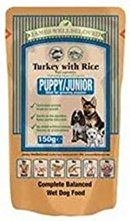 James Wellbeloved Puppy Food Pouches with Turkey & Rice m (150g) (Pack of 6)