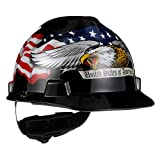 MSA 10079479 V-Gard Slotted Hard Hat, Americaln Eagle,, Capacity, Volume,...