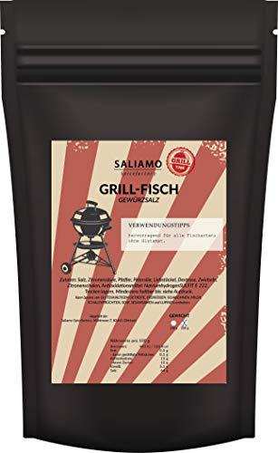 Grillfisch Gewürzsalz, BBQ Bratfisch Gewürz, ausgewogene Aromen, auch für Pfannengerichte, Gewürzmischung für Fisch, Fischgewürz 250 g   Saliamo