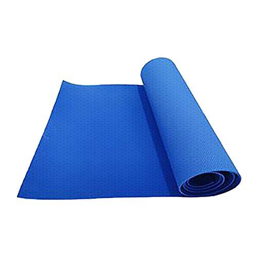 Vobery Yogamatte,Eva Rutschfest Und Gelenkschonend Sportmatte für Yoga Pilates Sport Fitnessmatte Gymnastikmatte mit Tragegurt Pilatesmatte 183X60X 0.4 cm Trainingsmatte(Blau)