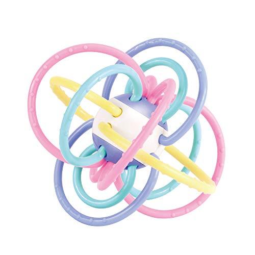 Juguete Mordedor Para Bebés de +0 Meses a 1 año Bebé Recién Nacido Aro Mordedor Con Sonajero Pelota Sensorial