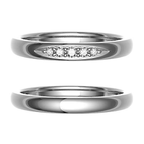 [ココカル]cococaru ペアリング 結婚指輪 プラチナ Pt900 2本セット マリッジリング 日本製 (レディースサイズ19号 メンズサイズ8号)