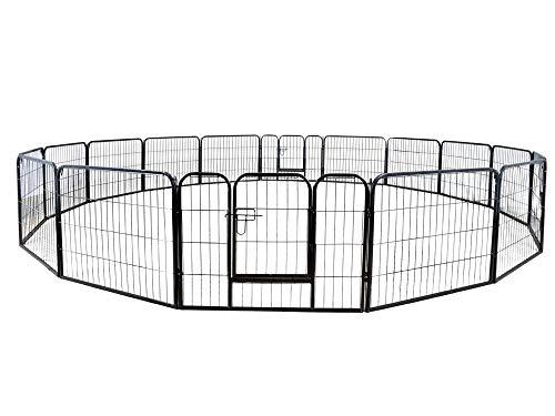 16 Panels Pet Playpen Metal Fence
