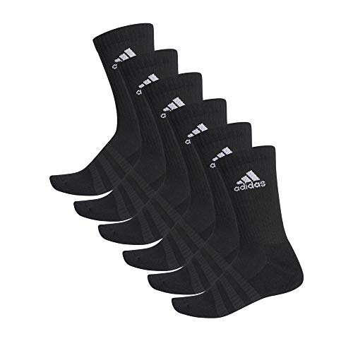 adidas 6 Paar Cushion Crew Socken, Black, L