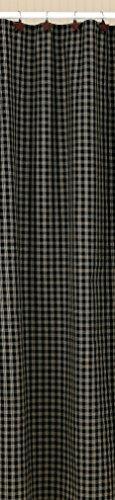 Park Designs Sturbridge Shower Curtain, 72 x 72, Black