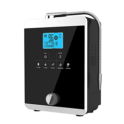 Alkaline Water Ionizer, Up to -800mV ORP, PH 3-11 Alkaline Acid Water Machine, Home Alkaline Water Filter, 8000 Liters Per Filter,Auto-Cleaning