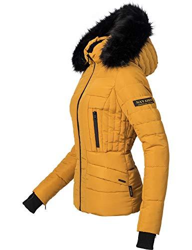 Navahoo Damen Winter Jacke Steppjacke Adele Gelb Gr. XL
